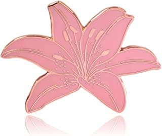 Clayton Jewelry Labs Tiger Lily Flower Hard Enamel Lapel Pin