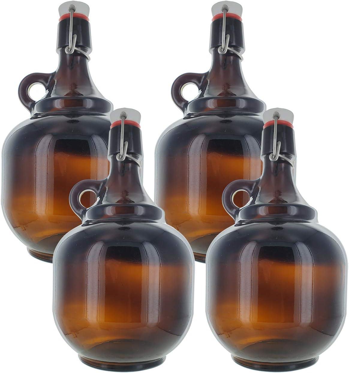2 Liter Amber Flip Ranking TOP4 Growler Selling Top Style x4