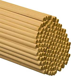 Wooden Dowel Rods – 5/16 x 48 Inch Unfinished Hardwood Sticks – for Crafts and DIY'ers – 25 Pieces by Woodpeckers