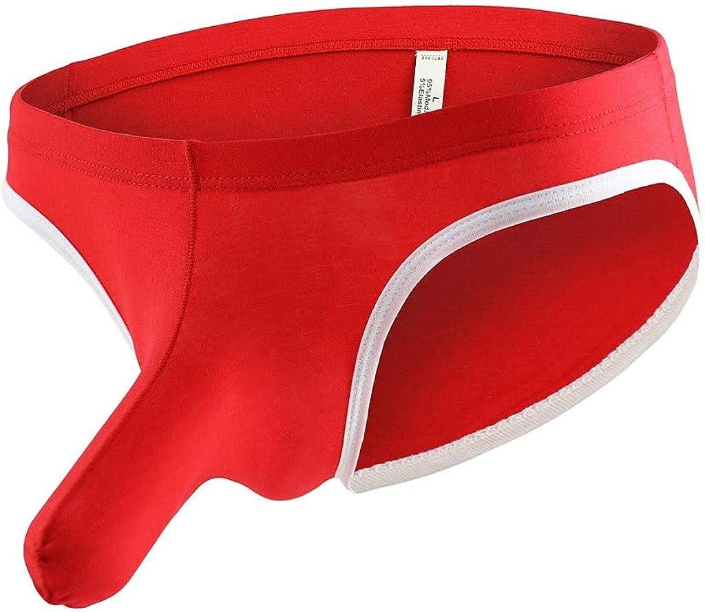 Allywit Mens Boxer Briefs, Sexy Elephant Bulge Underwear Pouch T Lingerie Underpants Shorts