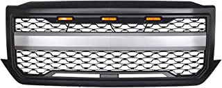 KARPAL Front Bumper Grille Grill With Amber Light Compatible With 2016-2018 Chevrolet Silverado 1500