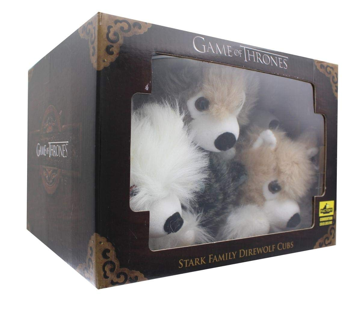 Game of Thrones Exclusive 6-Inch Plush Direwolf Prone Cub 6-Pack ...