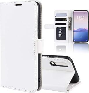 YXCY Aydd Litchi Texture wallet&ホルダー&カードスロット付きMeizu 16xsのための水平フリップレザーケース (Color : White)