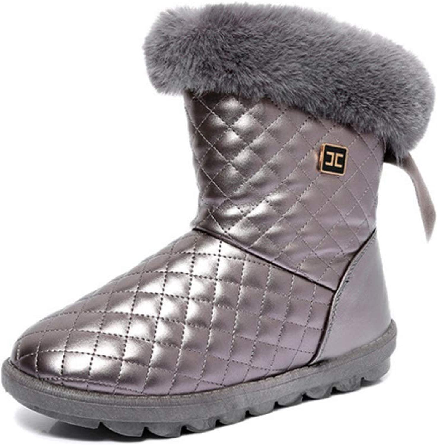 Ladies Warm Boot Winter Waterproof Snow Boots New Women shoes Woman Faux Fur Mid-Calf Warm Plush Femme Booties for Daily Warmth