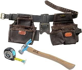 OX Tools OX-P432003 4 Pc Construction Top Grain Leather Rig Bonus Pack