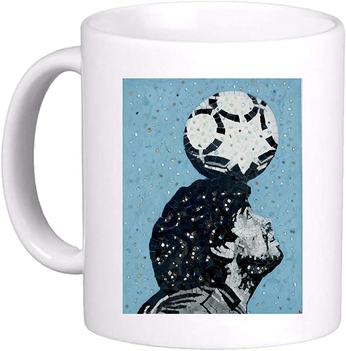 Tazza maradona mug calcio pallone in testa diego mondiale dios - regalo simpatica divertente 971 B08XB2Q8XV