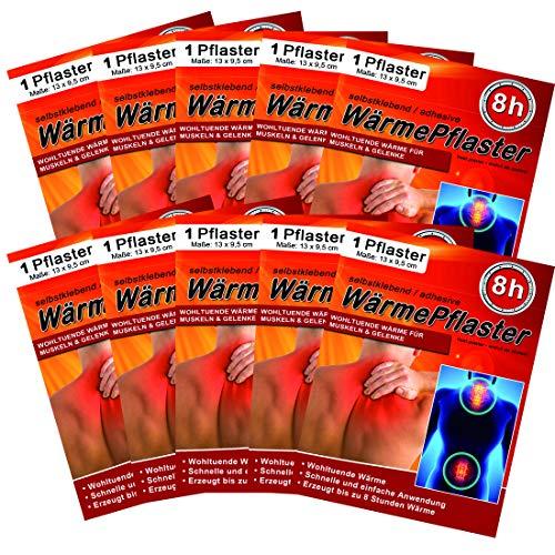 Wärmepflaster für Rücken Schulter Nacken Bauch - Wärmekissen Wärmespender Wärmepads Pflaster 8h, Wellnesprodukt für Massage & Entspannung, 30 Stück Wärmepflaster