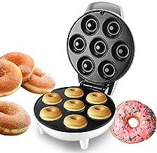 Machine à donuts - Ustensile de cuisine - Antiadhésif - Chauffage automatique - Pour petit déjeuner, tarte aux œufs - 1200...