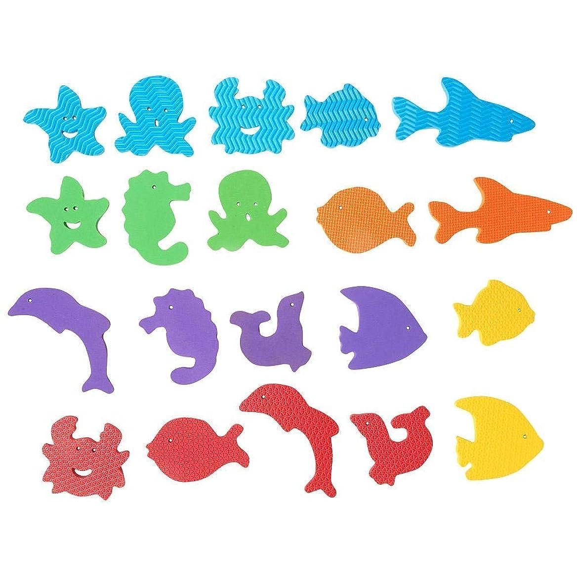 感情のの間に王位Babies R Us Foam Sea Animal Bath Set - 20 Pieces by Babies R Us [並行輸入品]