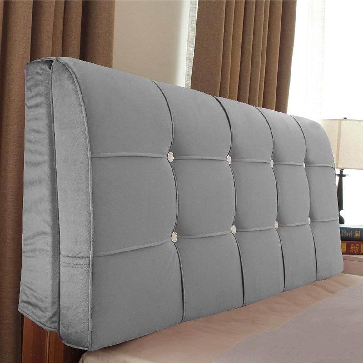 機知に富んだ請求可能キャプテンベッドサイドクッションベッドクッション枕ベッド枕大背もたれクッションダブルウエストクッション畳ベッド布厚さソフトパック取り外し可能および洗える、ヘッドボード付き/ヘッドボードなし、5色、複数のサイズ (色 : 1#, サイズ さいず : With headboard-160cm)