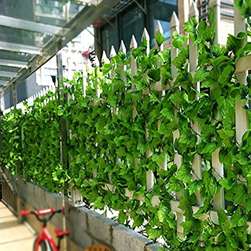 Youfui 82ft Artificial Grape Ivy vine Faux Leaf Garland Plants Fake Foliage green Decor