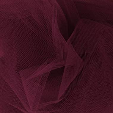 54'' Apparel Grade Tulle Wine Fabric by the Yard