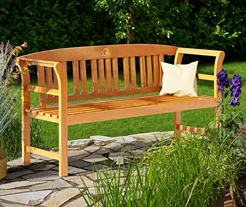 Deuba Gartenbank Rose 3-Sitzer FSC®-zertifiziertes Eukalyptusholz 150cm Bank Holzbank Sitzbank Parkbank