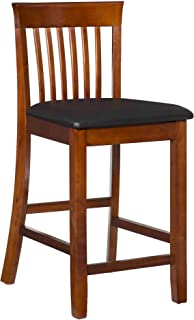 Linon Triena Red Cherry Wood 24 inch Counter Stool
