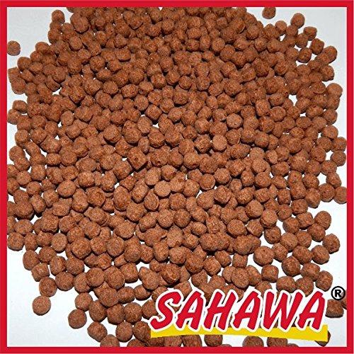 SAHAWA Koifutter Verschieden Sorten, Goldfischfutter, Teichfutter, Koi, Goldfische, Schildkröten, Molche, Frösche (5 l Eimer, Rot 6 mm)