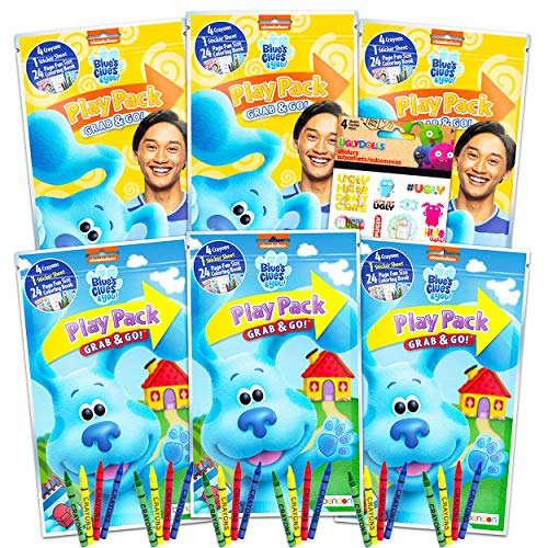 Blues Clues Party Favors Packs ~ Bundle Includes 6 Sets with Blue's Clues and You! Stickers, Coloring Books and Crayons (Blues Clues Party Supplies)