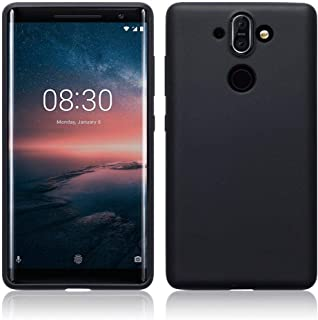 Nokia 8 Sirocco cover, Nokia 8 Sirocco case - TPU Gel - Slim Design - Durable Shock Absorbing - Back Protector - Solid Black Matte Finish
