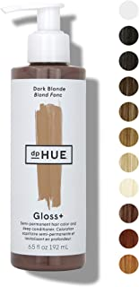 dpHUE Gloss+ - Dark Blonde, 6.5 oz - Color-Boosting Semi-Permanent Hair Dye & Deep Conditioner - Enhance & Deepen Natural ...