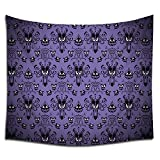 Jacoci Haunted Mansion Happy Halloween Design Wall Tapestry Hanging Cool Design for Bedroom Living Room Dorm Handicrafts Curtain Home Decor Size 50x60 Inches