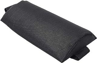 Libelyef - Reposacabezas de repuesto, altura ajustable, cómodo cojín para la cabeza para sillas plegables/reclinables/sillas de salón, ideal para patio, jardín, piscina – gris/negro