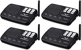 Wireless Intercom System Hosmart 1/2 Mile Long Range 7-Channel Security Wireless Intercom System for Home or Office (2018 ...