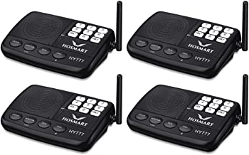 Wireless Intercom System Hosmart 1/2 Mile Long Range 7-Channel Security Wireless Intercom System for Home or Office (2018 ...