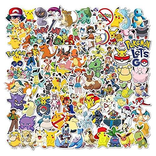 ZHAOHU 100 Pokemon Doodle Autocollants Mobile Skateboards Décorer La Valise Isolation Tasse Étanche Autocollants