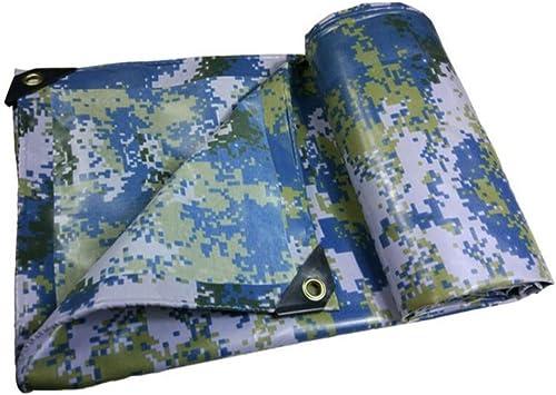 YAGEER zhangpeng Bache Militaire Camouflage Rembourré Bache Poncho Linoléum Militaire Camion 450g (épaisseur 0,38 Mm), 14 Taille en Option