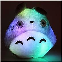 Yocatech Totoro Pillow LED Luminous Lights Colorful Throw Plush Cushion for Girlfriend Children