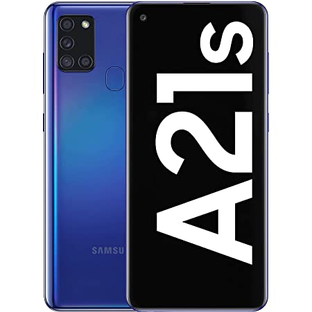 Samsung Galaxy A21s Android Smartphone, SIM Free Mobile Phone, Blue, (UK Version)