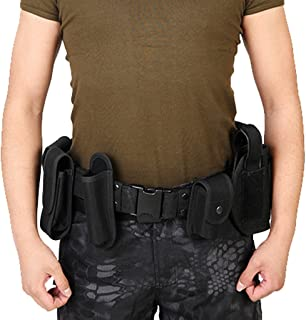 D DOLITY 10 In 1 Utility Belt Waist Bag Security Police Guard Prison Pouch Waist Pack