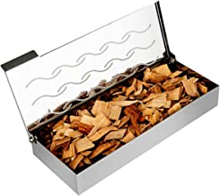 Universal Stainless Steel Wood Chip BBQ Smoker Box for Charcoal & Gas Grill - Gift for Griller - Indoor & Outdoor Use