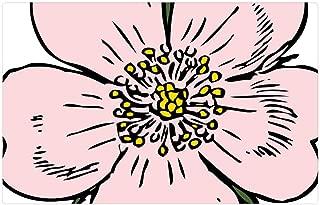 Tree26 Indoor Floor Rug/Mat (23.6 x 15.7 Inch) - Apple Blossom Flower Rose Plant Wild Summer Plant