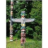 アラスカ先住民トーテムポールジグソーパズルクリエイティブアダルトチルドレンは、エンターテイメントゲーム500から6000個をリラックス 0516 (Size : 2000 pieces)