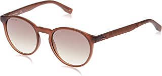 Lacoste Round Sport Inspired Transparent Brown Sunglasses For Women 52-19-140mm