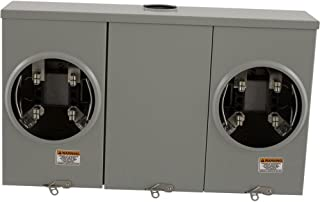 Square D by Schneider Electric UT2R2122B 200A Ringless Overhead/Underground 2-Positions Meter Socket With No Bypass