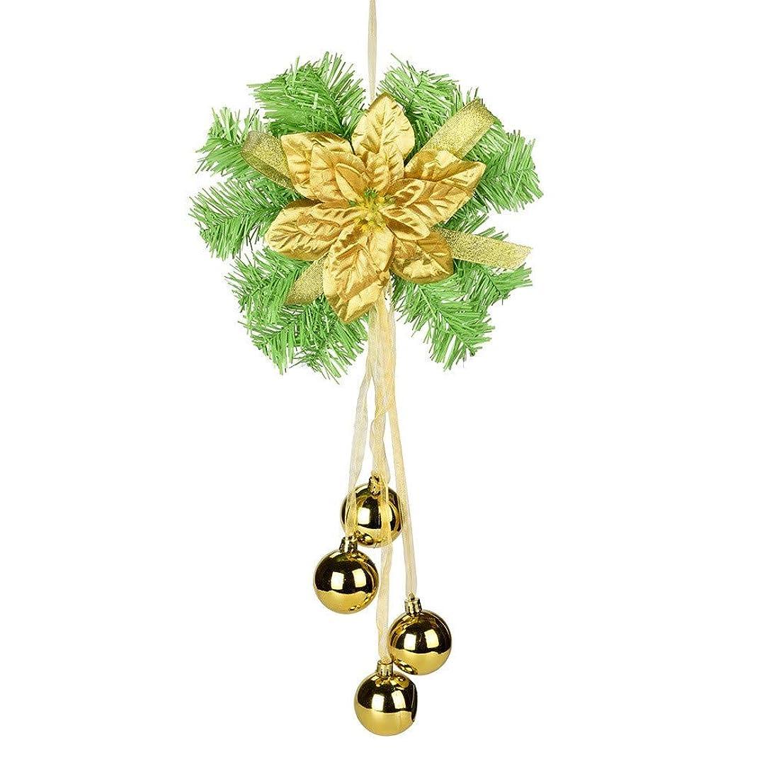 手作りのドアにぶら下がってクリスマスリースひまわり装飾飾りホット