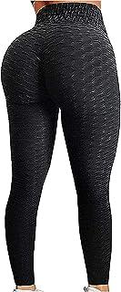 EXGOX Dam, hög midja, yogabyxor, stretch, löpning, träning, yogaleggings, magkontroll, sport-tights.