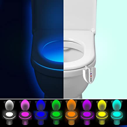 sensor movido autom/ático Sensor LED L/ámpara del LED sensor de movimiento colorido Luz de la noche del tocador cambio de 8 colores, activa solamente en oscuridad Luz del LED del tocador