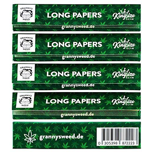 Granny's Organic Long Papers extra Slim aus Hanf | King Size | ungebleicht | 6 Stück