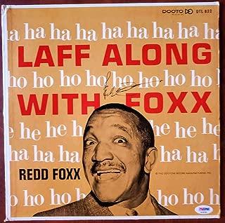 REDD FOXX PSA DNA Coa Hand Signed Album W/Vinyl Autograph