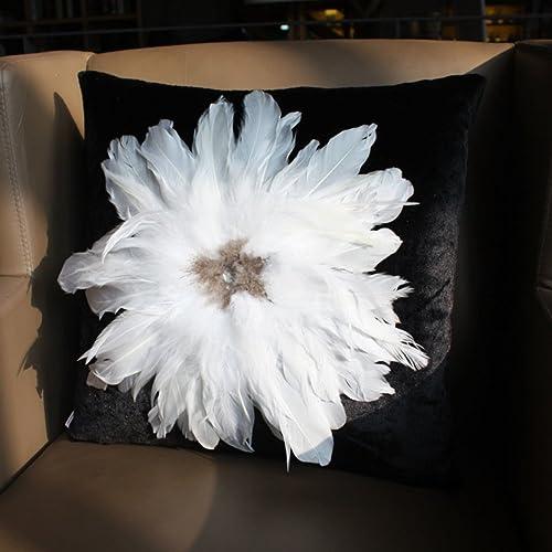 descuento de ventas en línea MWPO MWPO MWPO Fundas de Almohada Decorativas Plumas de Diamante Almohada de casa sofá Cojines Estilo Europeo, Moda-C 60x60cm (24x24 Pulgadas) Versión B  bienvenido a elegir