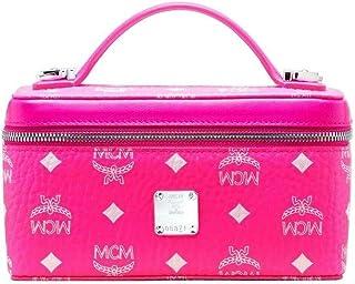 MCM Women's Neon Pink Coated Canvas Rockstar Vanity Case Box Bag myz9avi31qp001