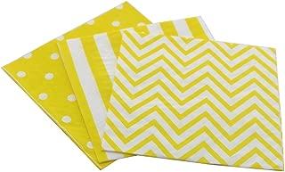 yellow and white polka dot napkins