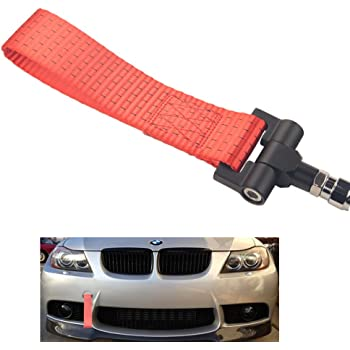 Z4,11-17 Mini Cooper F55 F56 11-18 F10 G30 5 Series Dewhel Track Racing Style Tow Hook w//Red Towing Strap Front Rear Bumper Screw on For BMW 12-17 F30//F31 3 Series 4DR,14-up F32 F33 F36 4 Series