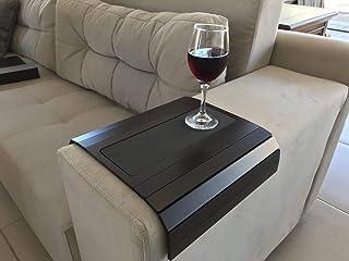 Sofa Arm Tray Tafel met EVA Base. Gewogen zijkanten. Past over vierkante of afgeronde stoelarmen