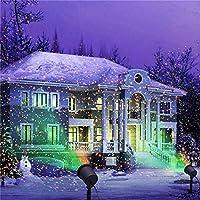 クリスマスムービングLedレーザープロジェクター星空プロジェクションライトパーティーホームステージライト屋外防水ガーデン装飾-EUプラグ