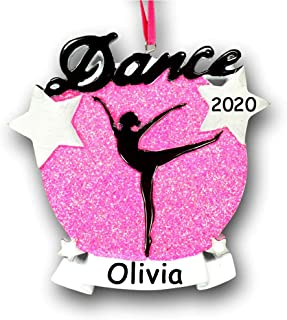 Best Personalized Dance Silhouette Christmas Ornament Gift Dancer with Name and Year Review