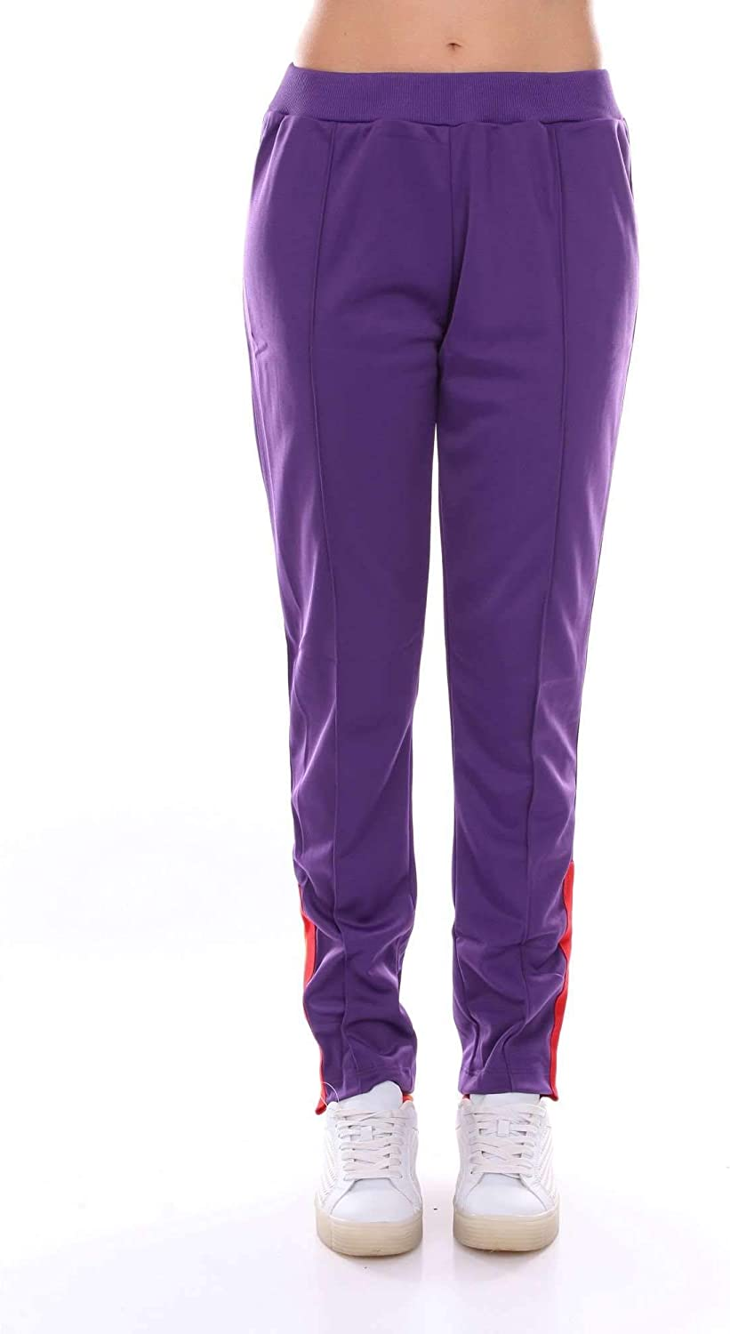 Akep Women's KE726PURPLE Purple Cotton Pants