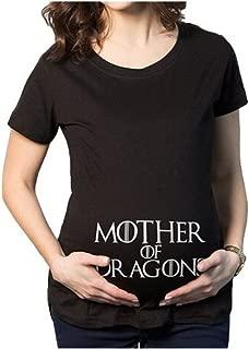 Yvonnelee Witzige S/ü/ße Schwangere Maternity Damen Umstandsmode T-Shirts mit Mutterschafts-Niedliche Lustige Slogan Motiv Schwangerschaft Geschenk Kurzarm